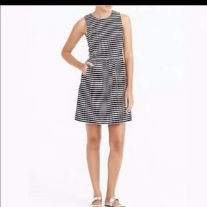 J. Crew Factory White And Black Striped Dress